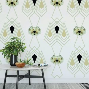 Marilyn - Nature's Glamour | Eco Wallpaper | Marilyn Ice Green | Amba Florette