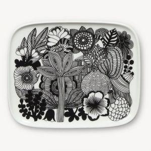 Marimekko Oiva and Siirtolapuutarha   Side Plate Set   15x12cm