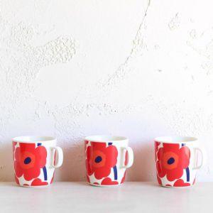 Marimekko Oiva | Unikko 4 Piece Mug Set