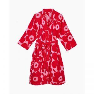 Marimekko Unikko Red/ Pink Bathrobe | Small