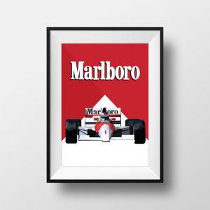 Marlboro F1 | Art Print | Framed and Unframed