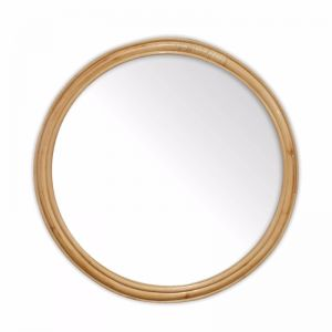 Marley Rattan Hoop Mirror 60cm | Natural | by Black Mango