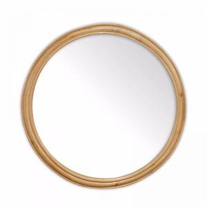 Marley Rattan Hoop Mirror 60cm | Natural | by Black Mango