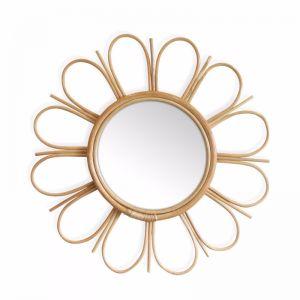 Marley Rattan Sunny Mirror 60cm | Natural | by Black Mango