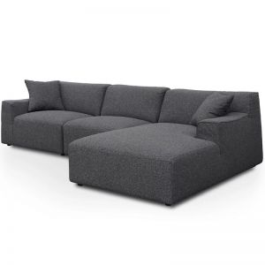 Marlin 3 Seater Right Chaise Sofa | Dark Grey