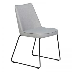 Marnie Dining Chair | Fabric | Concrete Grey/Black Frame