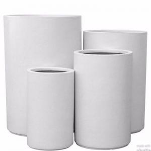 Marnus Cylinder Pot   White