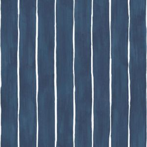 Marquee Stripe Wallpaper - Ink