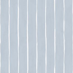 Marquee Stripe Wallpaper - Pale Blue
