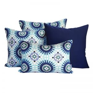 Marrakesh Blue | Sunbrella Fade and Water Resistant Outdoor Cushion