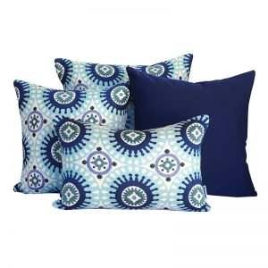 Marrakesh Blue | Sunbrella Fade and Water Resistant Outdoor Cushion | Outdoor Interiors