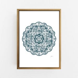 Marrakesh Decor Mandala in Dark Teal | By Pick a Pear | Canvas Print