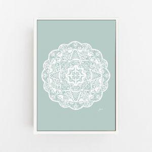 Marrakesh Decor Mandala in Haze Solid Wall Art Print | by Pick a Pear | Canvas