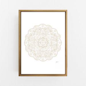 Marrakesh Decor Mandala in Ivory Wall Art Print | by Pick a Pear | Canvas