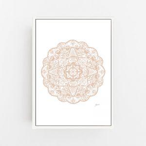 Marrakesh Decor Mandala in Light Blush   By Pick a Pear   Canvas Print