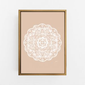 Marrakesh Decor Mandala in Light Blush Solid   By Pick a Pear   Canvas Print