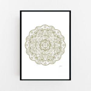 Marrakesh Decor Mandala in Sage Wall Art Print | by Pick a Pear | Canvas