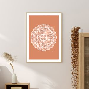 Marrakesh Décor Mandala in Sandstone Solid Fine Art Print | by Pick a Pear | Framed