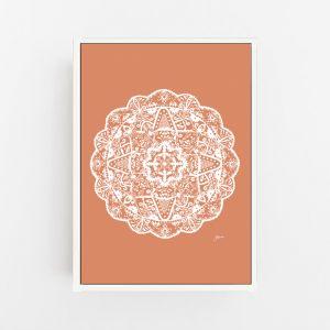 Marrakesh Decor Mandala in Sandstone Solid Wall Art Print | by Pick a Pear | Canvas