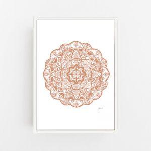 Marrakesh Decor Mandala in Sandstone Wall Art Print | by Pick a Pear | Canvas