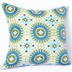 Marrakesh Green | Sunbrella Fade and Water Resistant Outdoor Cushion | Outdoor Interiors