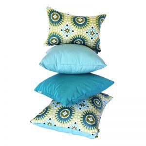 Marrakesh Green   Sunbrella Fade and Water Resistant Outdoor Cushion   Outdoor Interiors