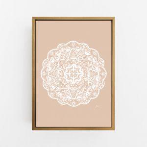Marrakesh Mandala in Light Blush Solid Print by Pick a Pear | Canvas Wall Art