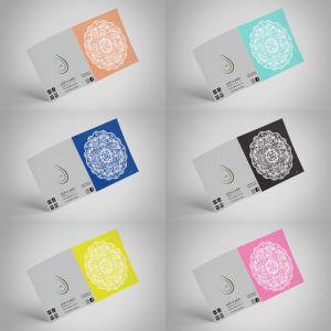 Marrakesh Solid Decor Mandala Frame It Designer Greeting Gift Cards   6 Pack   155x155mm