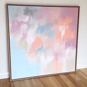 Marshmallow Original Artwork   Framed