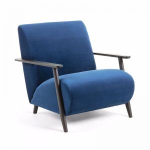 Marthan Armchair | Dark Blue Velvet