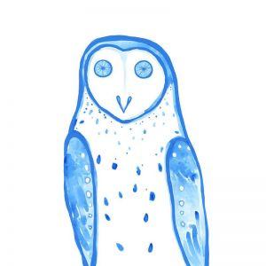 Masked Owl | Giclee Art Print | By Madeleine Stamer