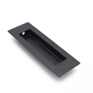 Matt Black Sliding Door Flush Pull | 120mm x 40mm