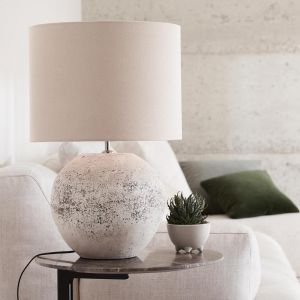 Mavis 1 Light Small Table Lamp | Antique Grey