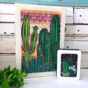 Maxi Woodblock | Cactus Sunset