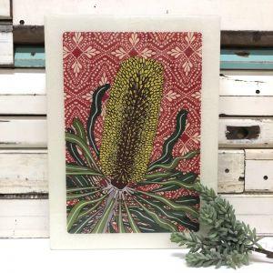 Maxi Woodblock | Candlestick Banksia