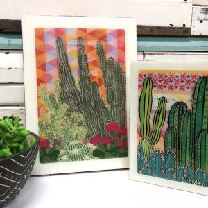 Maxi Woodblock | Hacienda Garden | Wall Hanging