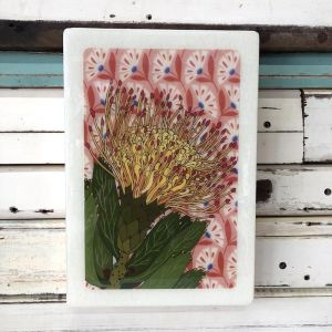 Maxi Woodblock | Pin Cushion Protea | Wall Hanging