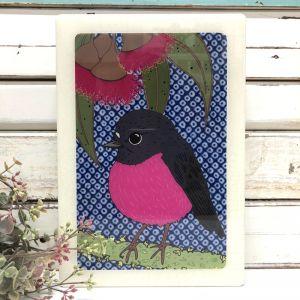 Maxi Woodblock | Pink Robin
