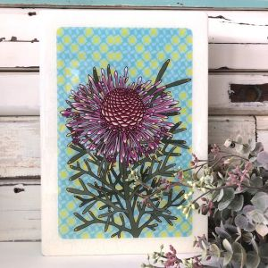 Maxi Woodblock | Rose Coneflower