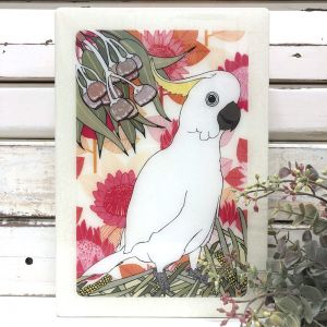 Maxi Woodblock | Sulphur Crested Cockatoo