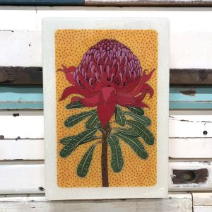 Maxi Woodblock | Waratah | Wall Hanging
