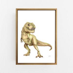 Maximus Tyrannosaurus T-Rex Dinosaur Wall Art Print by Pick a Pear   Canvas Wall Art