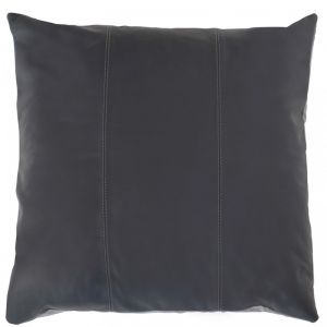 Maxine Leather Cushion | Gun Metal | by Klovah