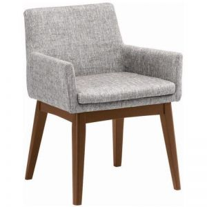 Maya Dining Armchair | Cocoa + Pebble Grey | Modern Furniture