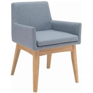 Maya Dining Armchair | Oak & Aquamarine