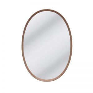 Maya Oval Mirror | American Oak Timber Frame