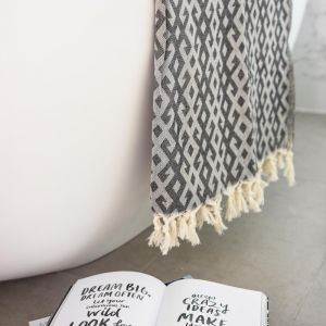 Mayan Turkish Towel | Charcoal | by Collective Sol