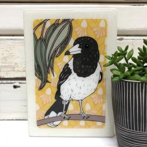 Medi Woodblock | Butcher Bird | Wall Hanging