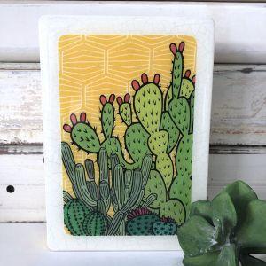 Medi Woodblock | Cactus Sunrise