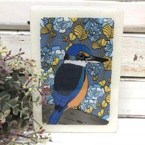 Medi Woodblock | Sacred Kingfisher